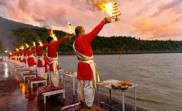 Ganga Worship Rishikesh