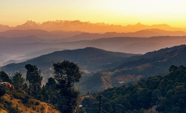 Sunrise view at Kausani, Uttarakhand
